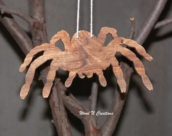 Hanging Spider - Hanging Wooden Spider for Home Decor - Halloween Decoration