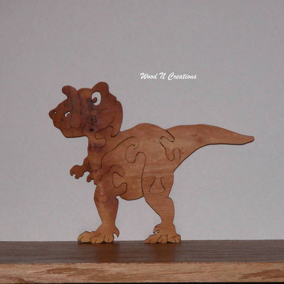 Toy for Child - Wooden Dinosaur Puzzle - Child's Decor