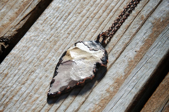 Arrowhead Necklace With Copper South West Sculptural Wearable Art