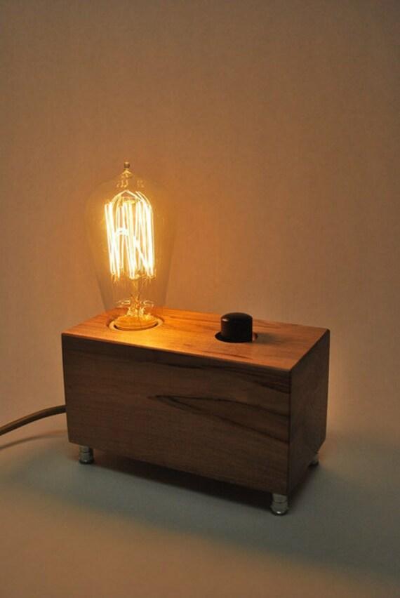 The Menlo Park Lamp- Single Edison Bulb in Ambrosia Maple w/ Full Range Dimmer
