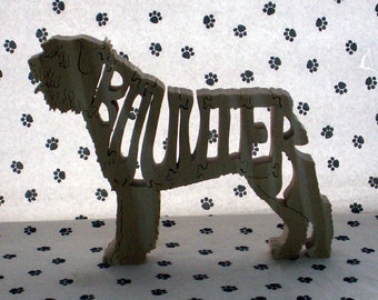 Bouvier des Flandres Fretwork Jigsaw Puzzle Wood Dog by dogWoodbyDave on Etsy