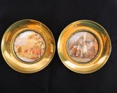 Pair of Vintage Brass Pictures