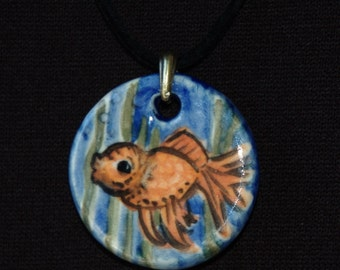 Goldfish Ceramic Pendant