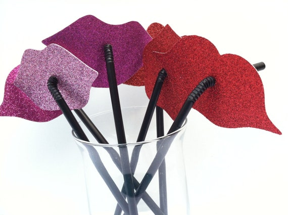 ON SALE NOW  200 Lips and Mustaches on a Straw Party Favor Set Assorted Styles