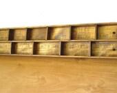 Vintage yardstick curio shelf, vintage miniature shelf, vintage collectable shelf