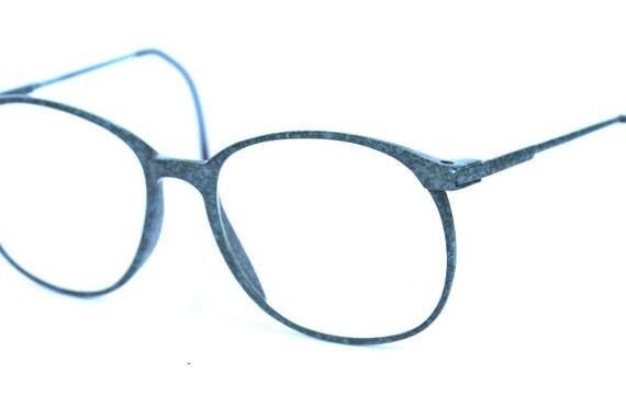1980s Vintage Blue Marble Paint Splatter Glasses Frames
