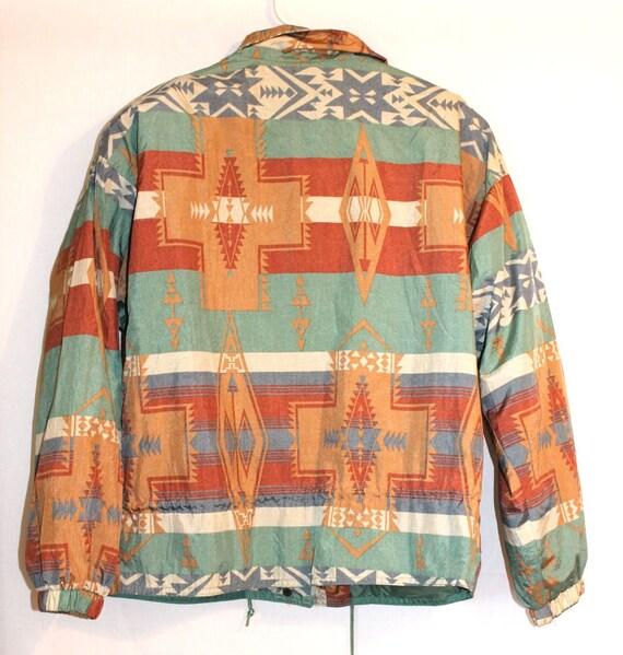 Triforce Navajo Print Vintage 90s Thin Jacket