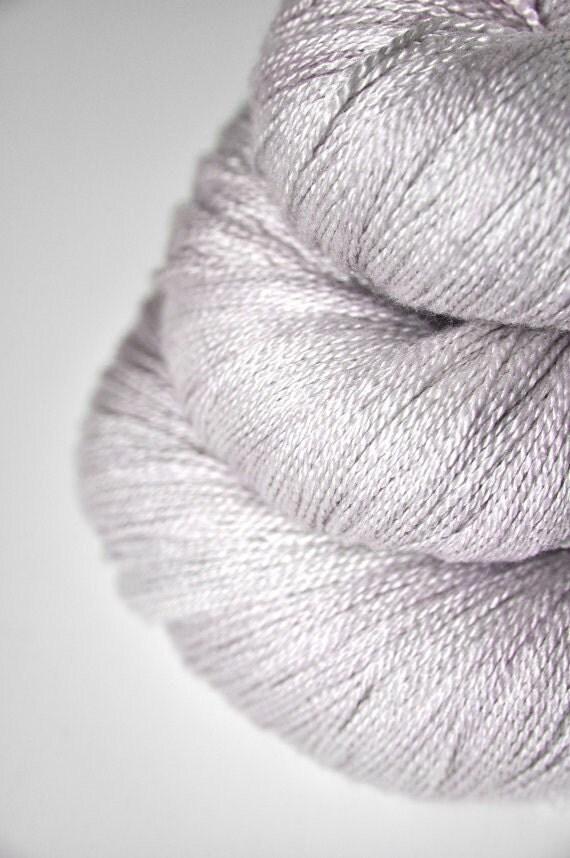Moon fairy OOAK - Silk/Merino Yarn Lace weight