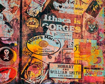 Stickers on Door St Barts, fine art photo,  photo wall art, home decor, island photo,  sticker wall, nostalgia