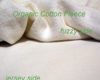 Organic Cotton Fleece Fabric, by the yard