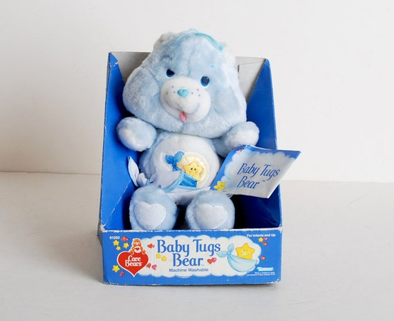 Vintage 80s Care Bears Baby Tugs Plush in Box 11""