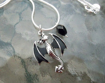 The Dragon with Bat Wings Pendant - Unisex