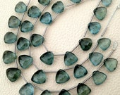 5 Matched pairs,Rare Huge Size, SUPERB Quality MOSS AQUAMARINE Faceted Trillion Shaped Briolettes, 8x8mm,Great Item