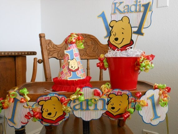 Winnie the Pooh 1st Birthday Party Package by ASweetCelebration