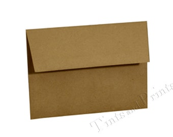 A7 Envelopes Brown Craft Paper Set of 25 - for 5x7 cards and invitations