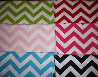 Design Your Own / You Pick the color - Chevron Fabric Basket / Organizer Bin / Diaper Caddy