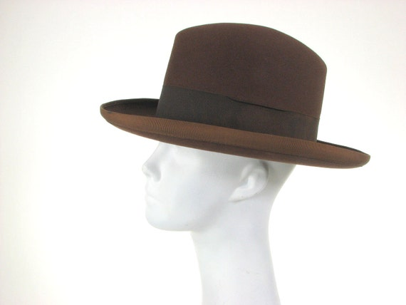 40s Mens Stetson Hat Brown Rugged