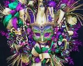 Mardi Gras wreath  Le Carnaval