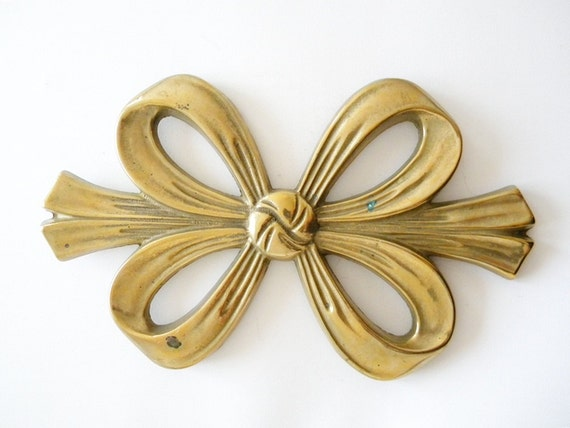 french vintage bow large brass bow pot stand
