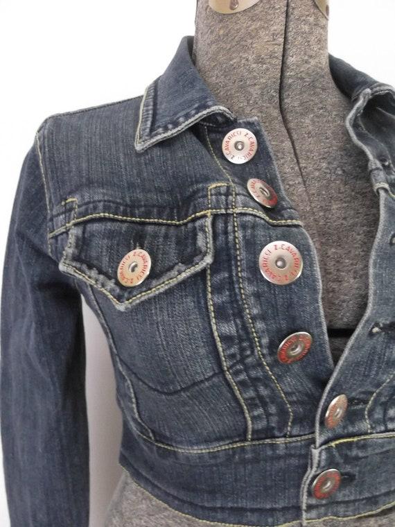 Vintage Cropped Denim Jacket Z Cavaricci 1980s Bolero