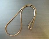 70s Necklace S-Chain Necklace, Vintage Necklace, Vintage Jewelry