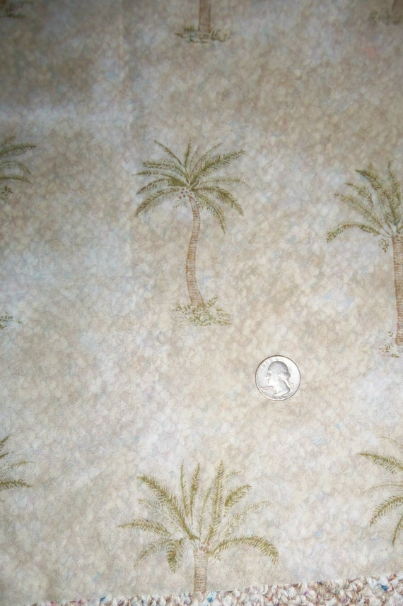 """SALE Waverly Home Dec Sheer Palm Trees Fabric 58"""" wide 10.5 yards"""