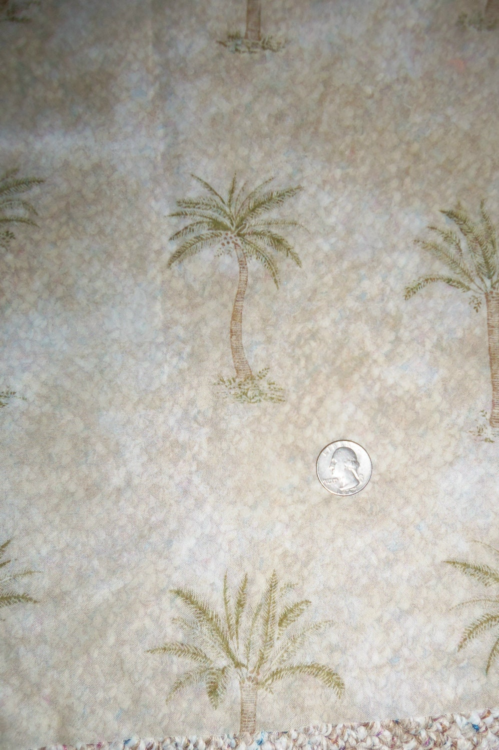 SALE Waverly Home Dec Sheer Palm Trees Fabric 58 by PixieSweetie
