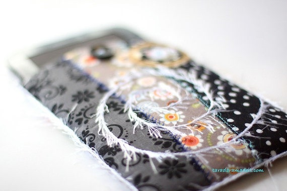 Kindle, Kindle Fire or Nook Cover - Black and Grey