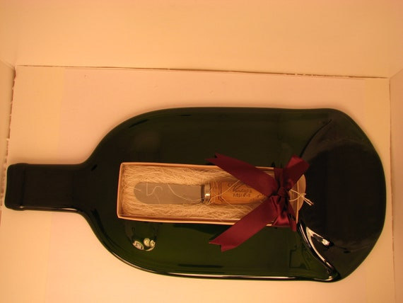 Wine Bottle cheese/ Hors d'oeuvres Serving dish