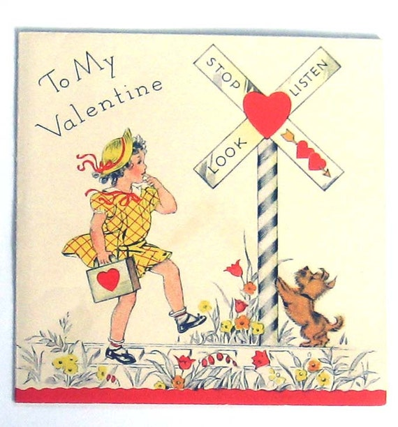 AJ7 Vintage Valentine Card-To My Valentine