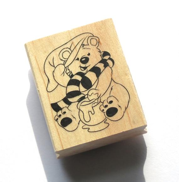 Cute Winter Bear Rubber Stamp from Inkadinkado  // Brand New