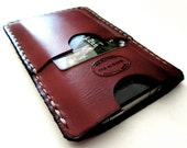 Oxblood Brown iPhone 5 Leather Wallet Hand Dyed Can Be Monogrammed