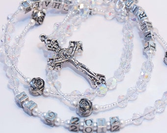 Wedding Rosary with names and date
