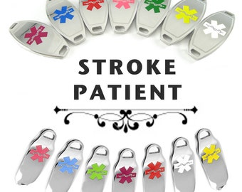 Stroke patient etsy stroke patient medical id plate pre engraved for stylish beaded bracelets negle Choice Image