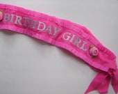 Birthday sash, Birthday Girl Sash, customize with any colors- adjustable for adult or child