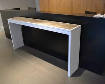 Concrete And White Lacquer Console Table Console Table Entry