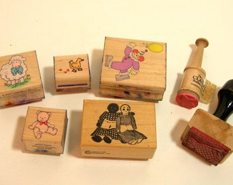 Vintage Rubber Stamp Collection