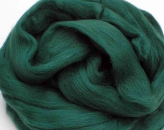 """Ashland Bay Solid Colored Merino for Spinning or Felting """"Pine""""  4 oz."""