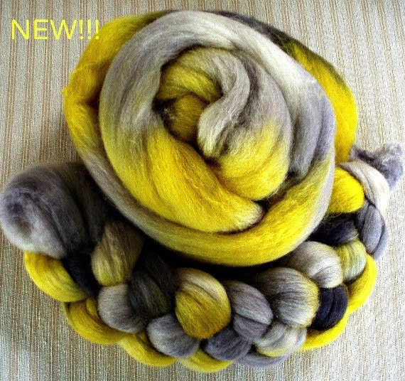 "Merino/Silk Combed Top 4 Oz. ""Sun and Shadows"""