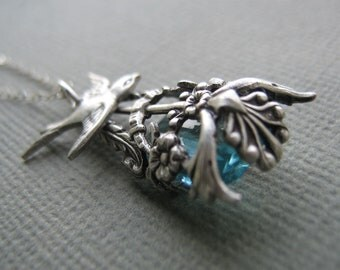 Gorgeous Glass Jewels And Filigree Necklace