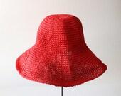 10 Dollar Sale - Vintage CONCERT Red Floppy Brim Hat