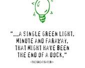 F Scott Fitzgerald The Great Gatsby, Green Light Quotation Art Print, 5x7