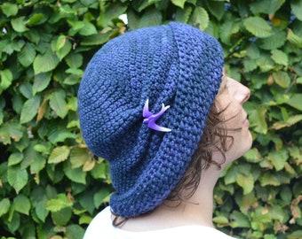 Crochet pattern : retro inspired hat in 2 versions for women