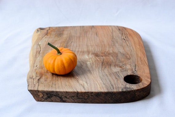 Harvest Cutting Board, Natural Edge Salvaged Wood 692, Ready to Ship