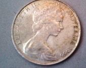 1966 Australia Elizabeth II Fifty 50 Cent Silver Coin