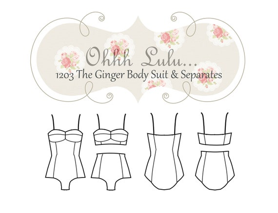 Ohhh Lulu The Ginger Body Suit and Separates PDF Sewing Pattern