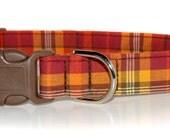 Harvest Plaid,,,,,,,Custom Dog Collar