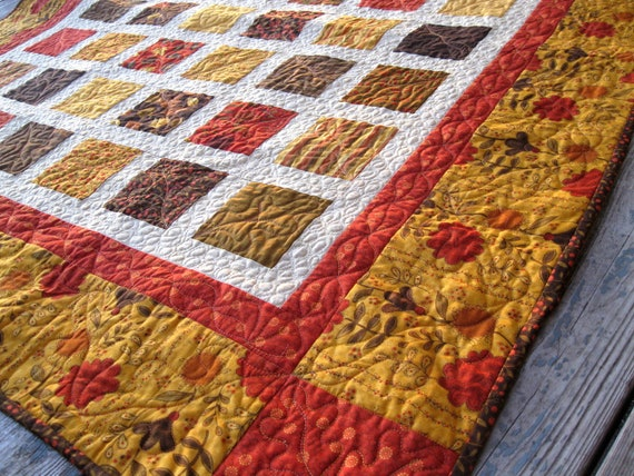 Simply PHENOMENAL FALL 54x60 quilt in autumn colors