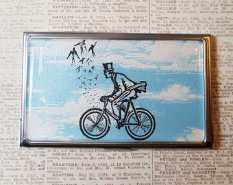 Bike and birds card holder