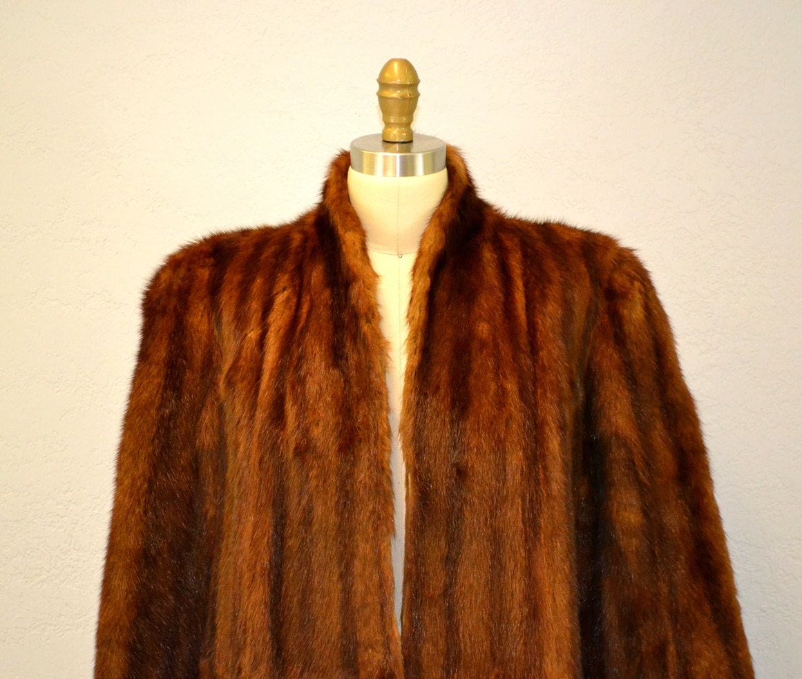 Vintage mink fur coat / genuine authentic fur 1950's